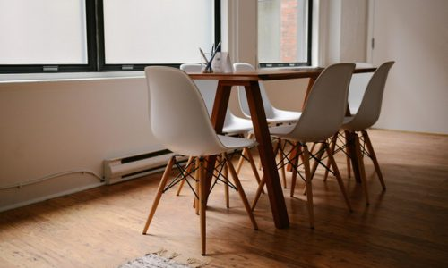 Table and chairs in an office